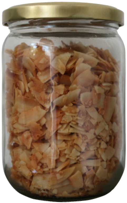 coconut chips - glass jar 210g