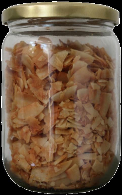 Kokosnusschips im Glas 140g