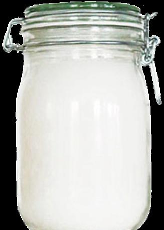 Kokosöl im Glas mit Drahtbügel 1000ml